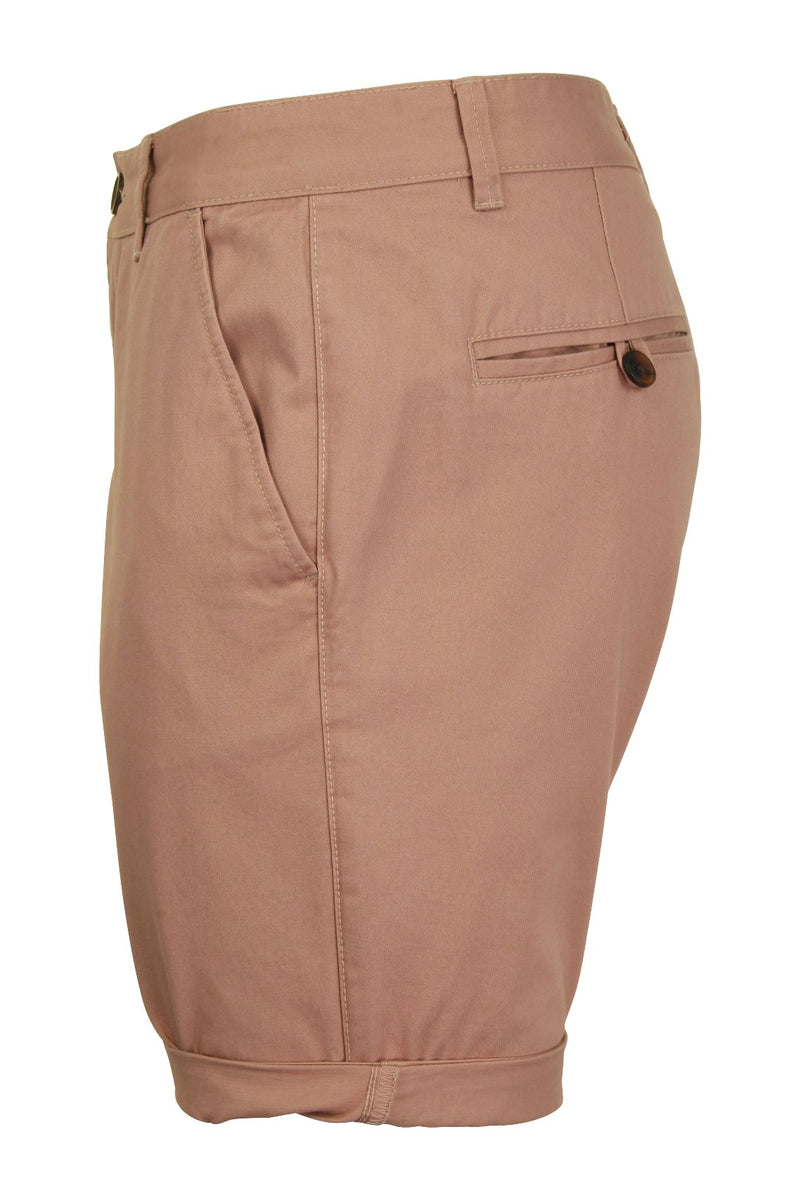 Mens Twill Chino Shorts by Xact, 02, Xsrt1028, #colour_Dusty Pink
