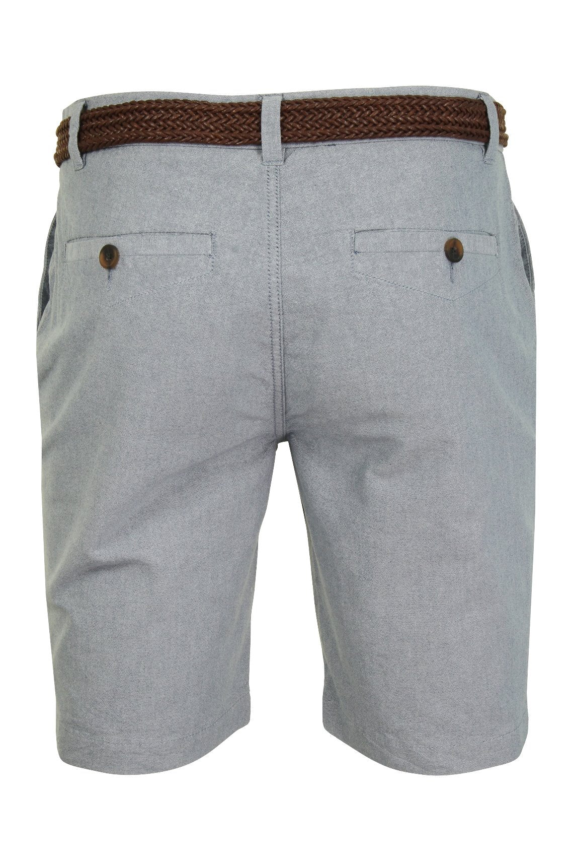 Mens Oxford Chino Shorts by Xact with Belt-3