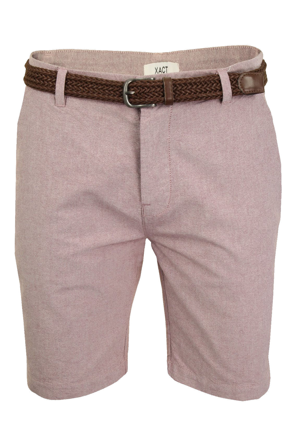 Mens Oxford Chino Shorts by Xact with Belt-Main Image