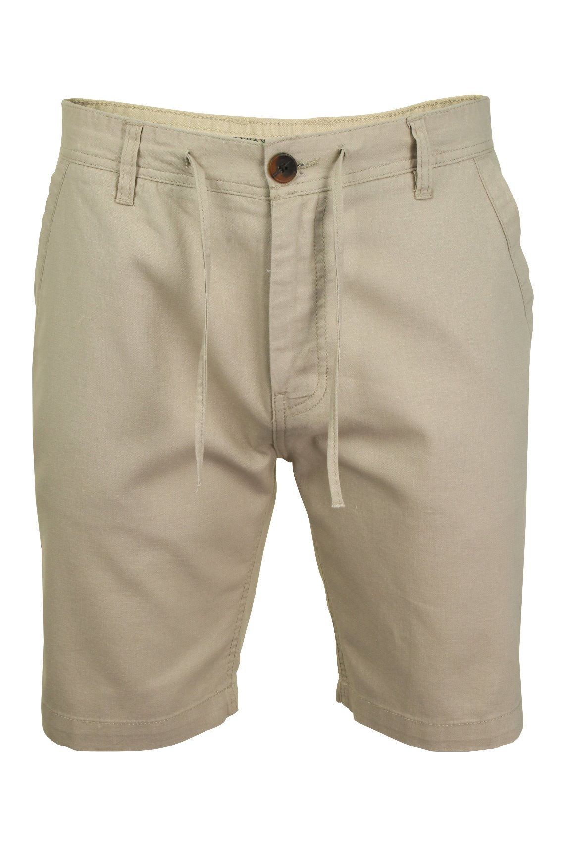 Mens Linen Mix Chino Shorts by Xact-Main Image