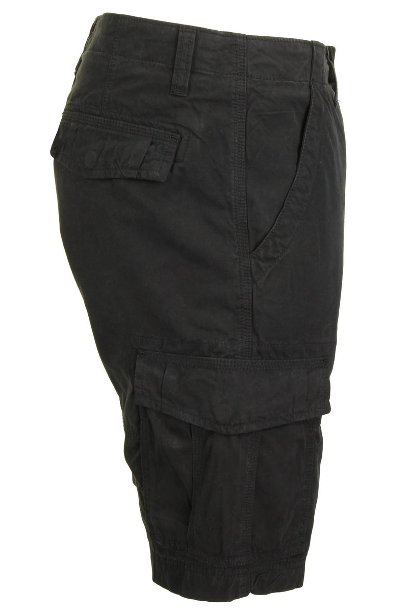 Mens Canvas Cargo Shorts by Xact, 02, Xsrt1031, #colour_Black