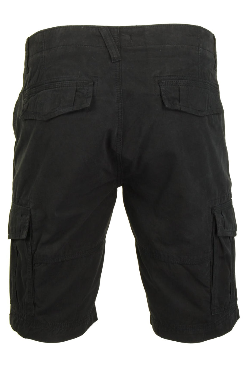 Mens Canvas Cargo Shorts by Xact, 03, Xsrt1031, #colour_Black