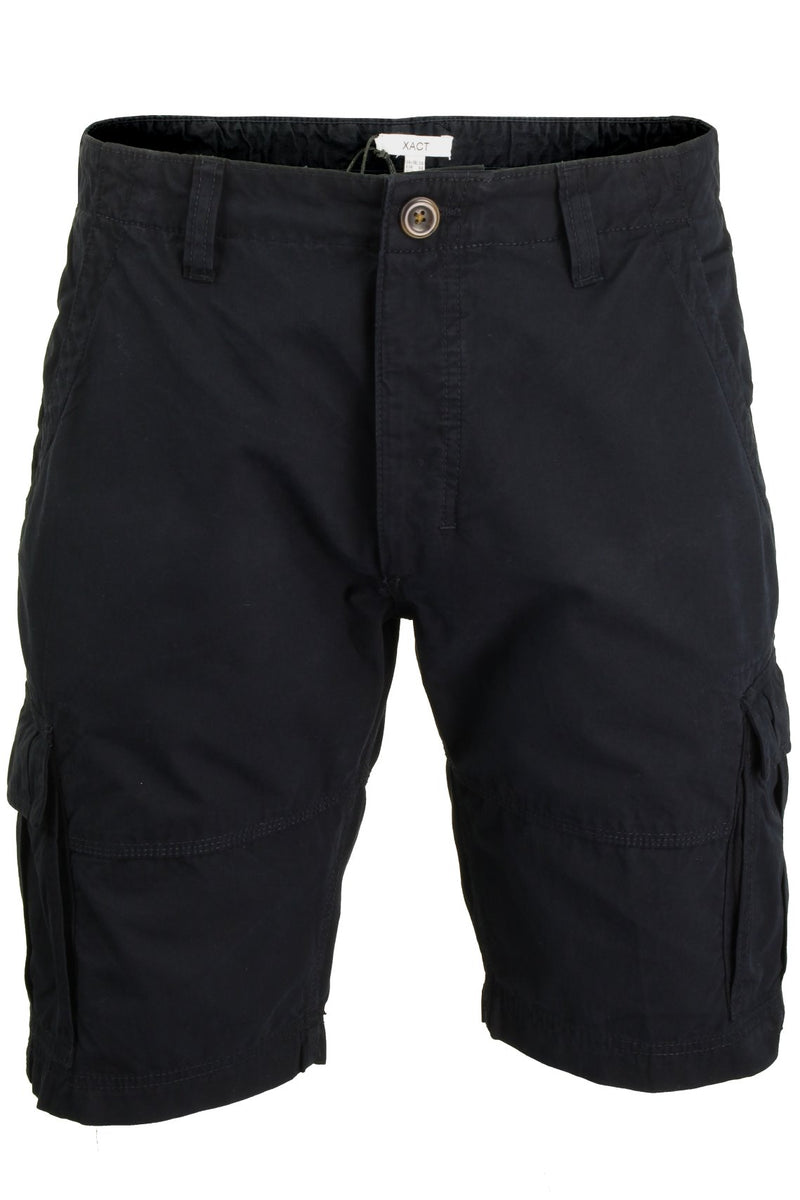 Mens Canvas Cargo Shorts by Xact, 01, Xsrt1031, #colour_Navy
