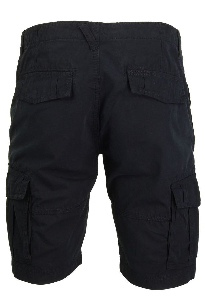 Mens Canvas Cargo Shorts by Xact, 03, Xsrt1031, #colour_Navy