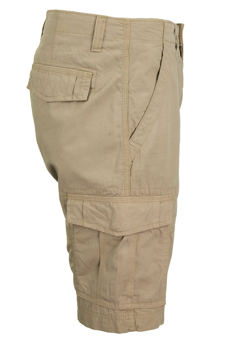 Mens Canvas Cargo Shorts by Xact, 02, Xsrt1031, #colour_Stone