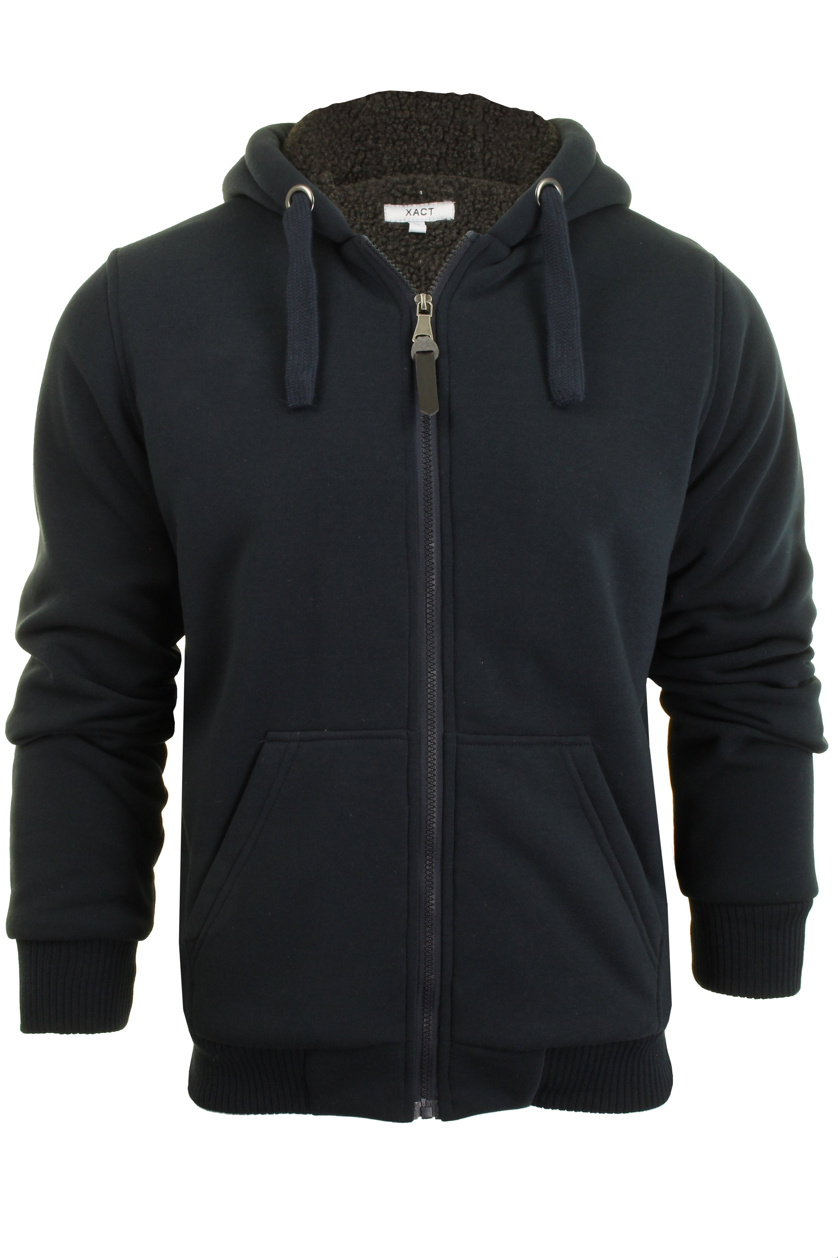 Xact Mens Hoodie Heavy Sherpa Lined Jacket Zone-Main Image