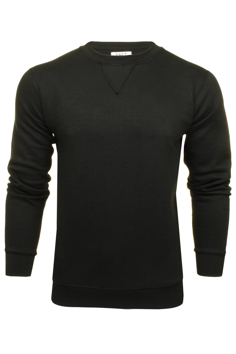 Xact Men's Crew Neck Sweatshirt/ Jumper, 01, Xsw1122, #colour_Black