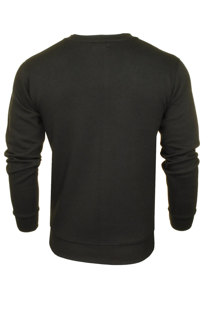 Xact Men's Crew Neck Sweatshirt/ Jumper, 03, Xsw1122, #colour_Black