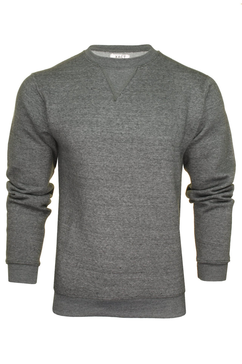 Xact Men's Crew Neck Sweatshirt/ Jumper, 01, Xsw1122, #colour_Charcoal