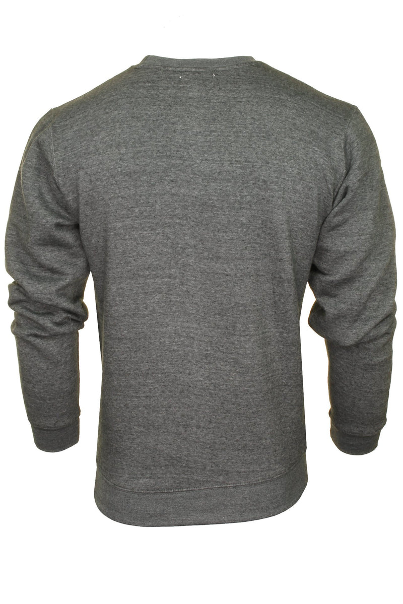 Xact Men's Crew Neck Sweatshirt/ Jumper, 03, Xsw1122, #colour_Charcoal