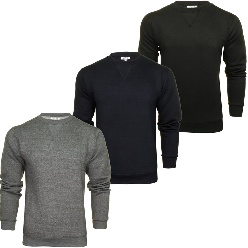 Xact Men's Crew Neck Sweatshirt/ Jumper, 01, Xsw1122
