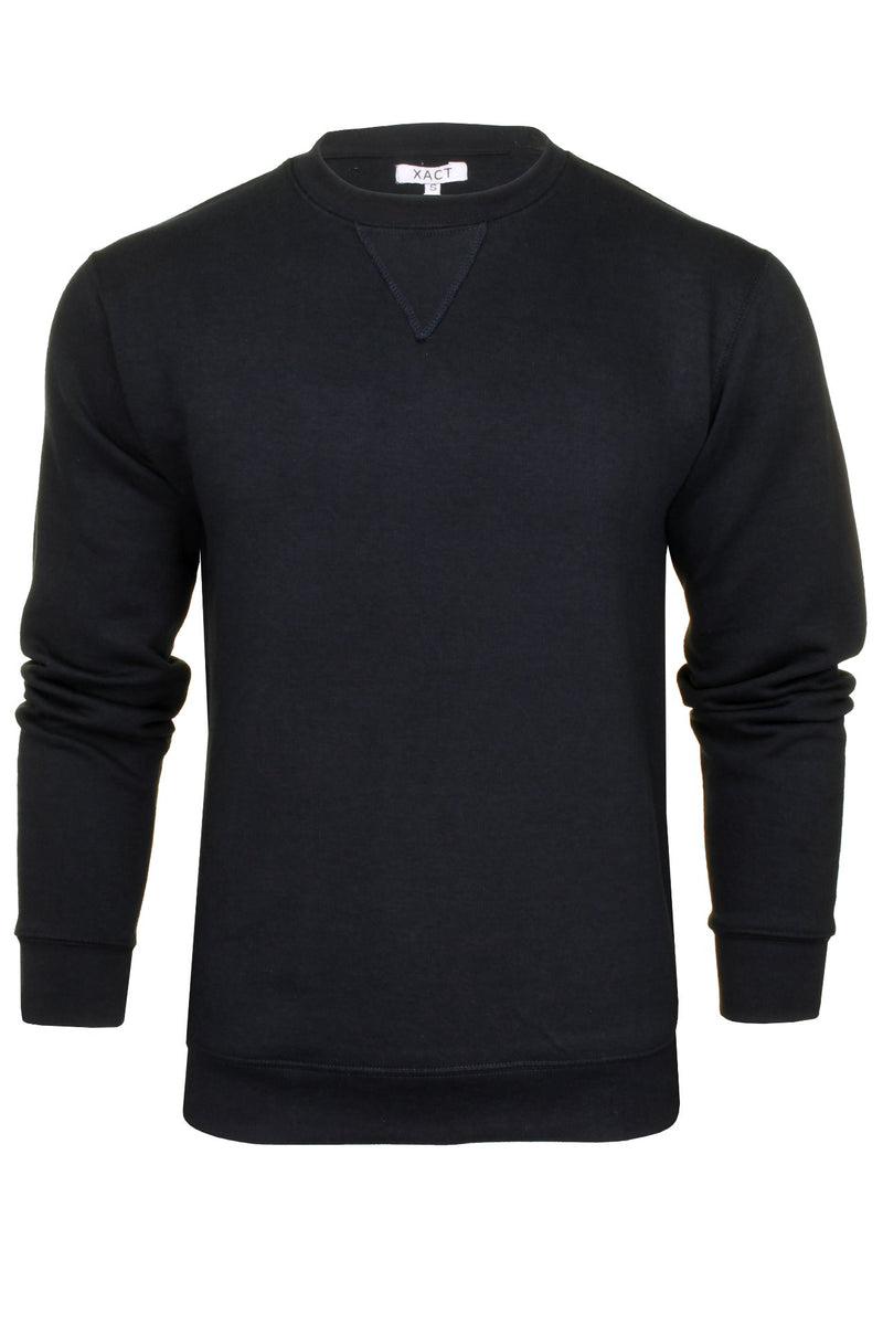 Xact Men's Crew Neck Sweatshirt/ Jumper, 01, Xsw1122, #colour_Navy