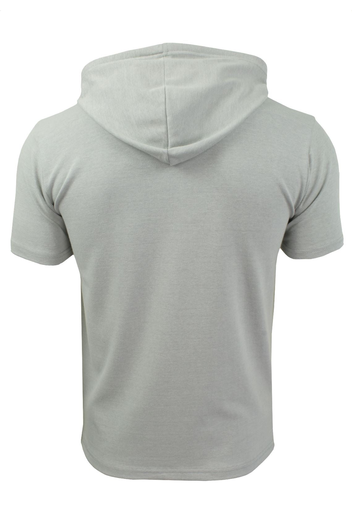 Mens Hoodie T-Shirt by Xact Short Sleeved_03_XTE1019_Grey Marl