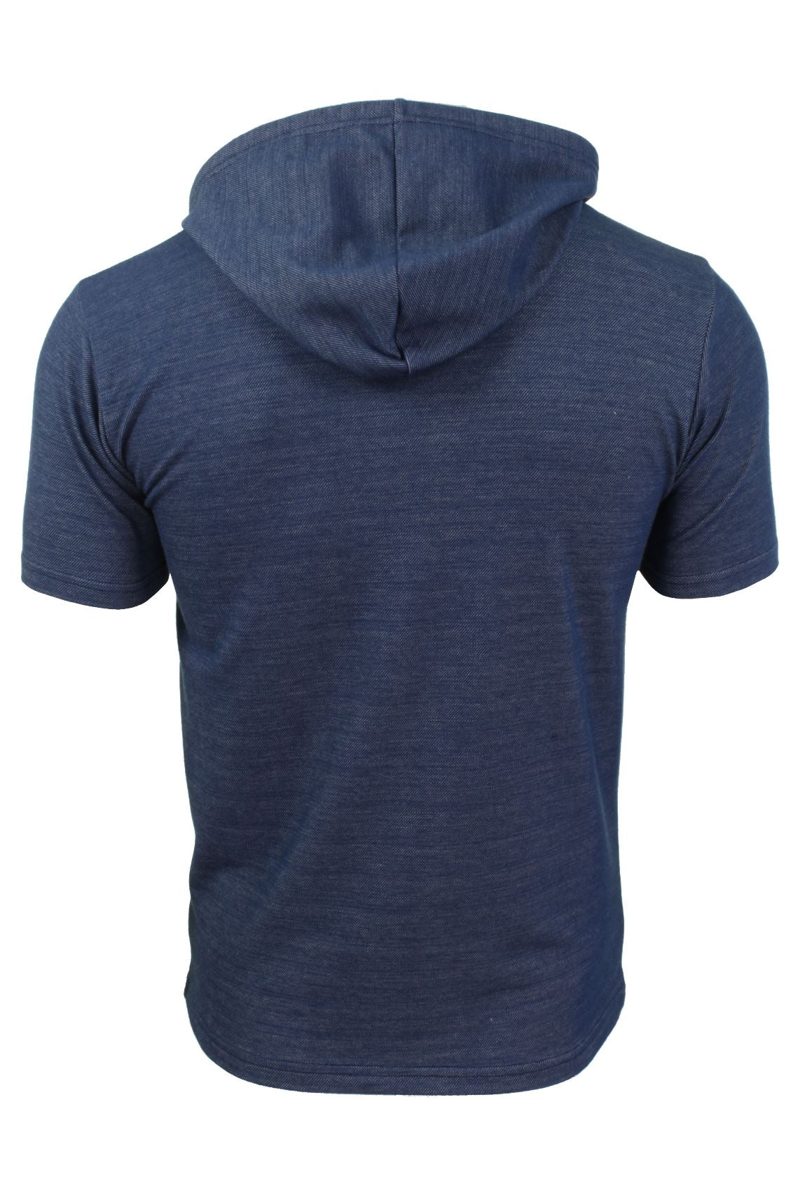 Mens Hoodie T-Shirt by Xact Short Sleeved_03_XTE1019_Navy
