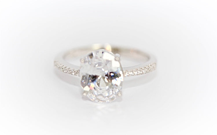 "Single Solitaire ""Diamond"" Ring"