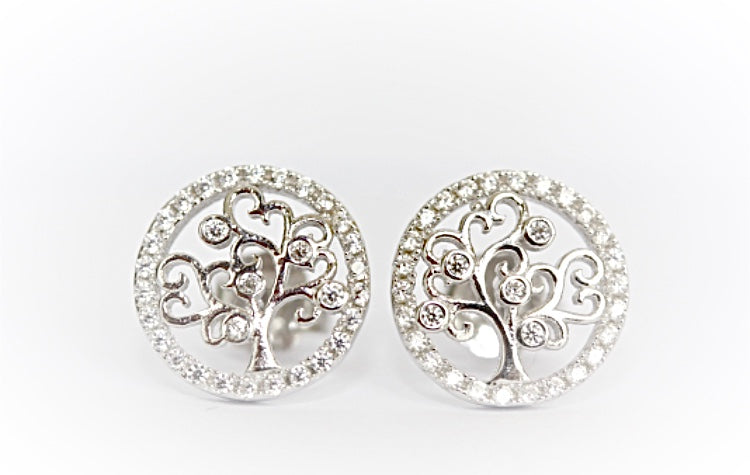 "Tree of Life ""Diamond"" Stud Earrings"