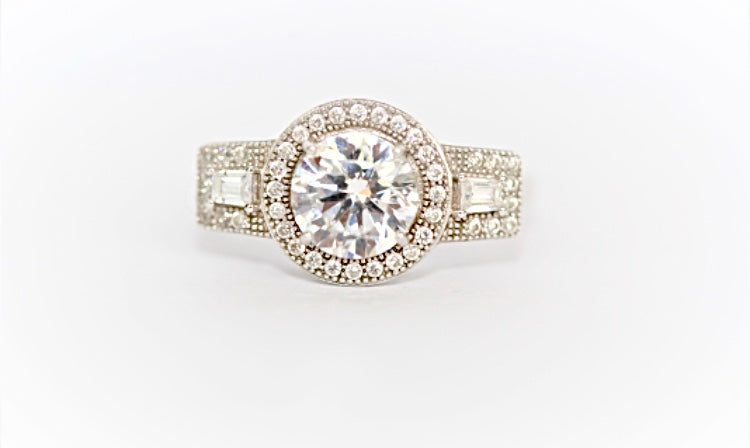 "Deco Victorian ""Diamond"" Ring"