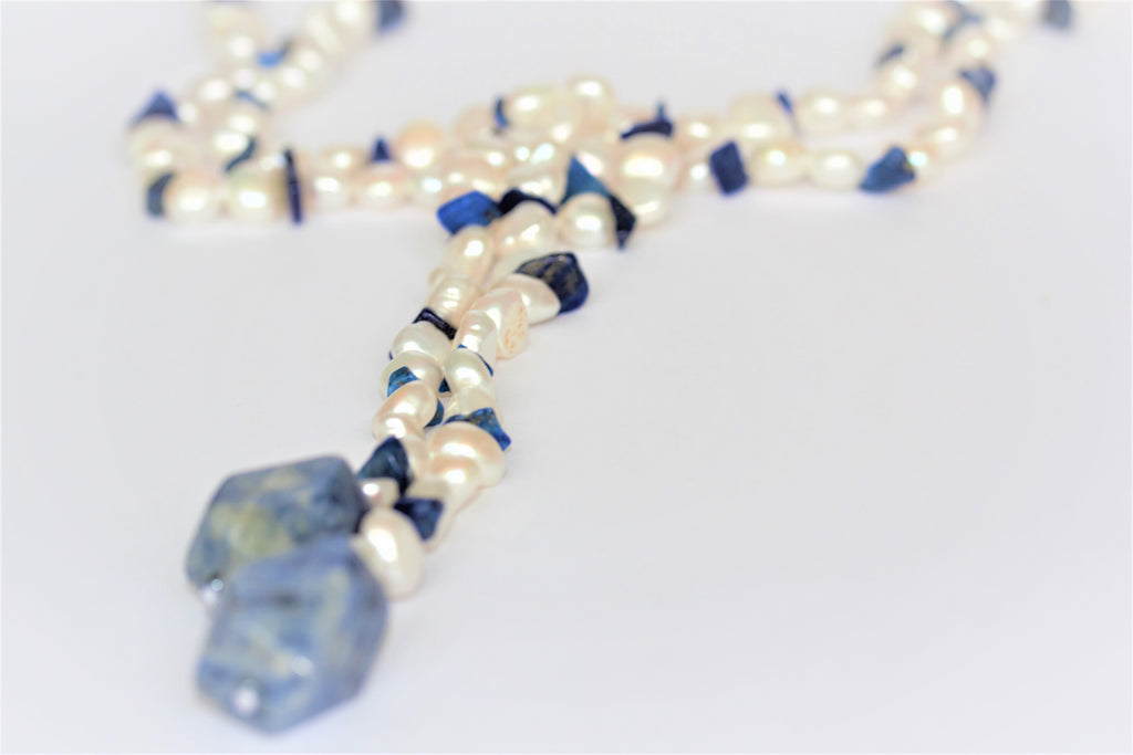 Fifi Blue and White Lariat