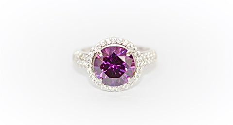 """Amethyst and Diamond"" Ring"