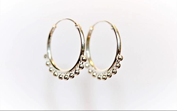 Silver Dancer Hoop Earrings