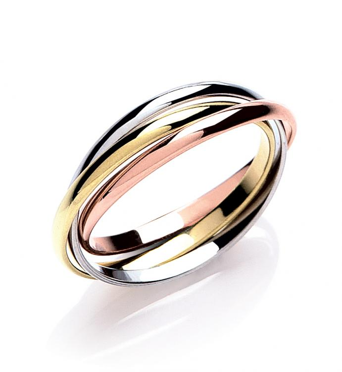 Traditional Real Gold Russian Wedding Ring