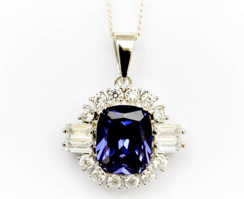 """Tanzanite and Diamond"" Pendant"