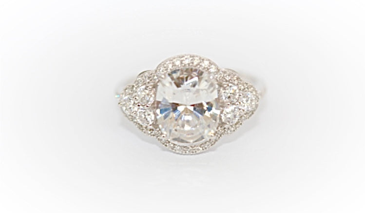 "Victorian Large Oval ""Diamond"" Ring"