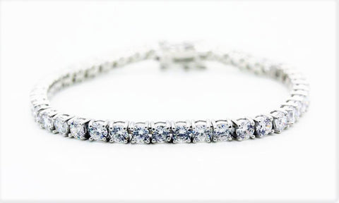 4mm Round Cut CZ Tennis Bracelet