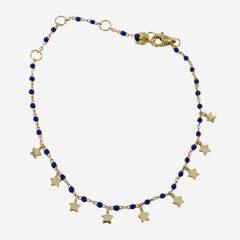 Blue Starry Gold or Silver Bracelet