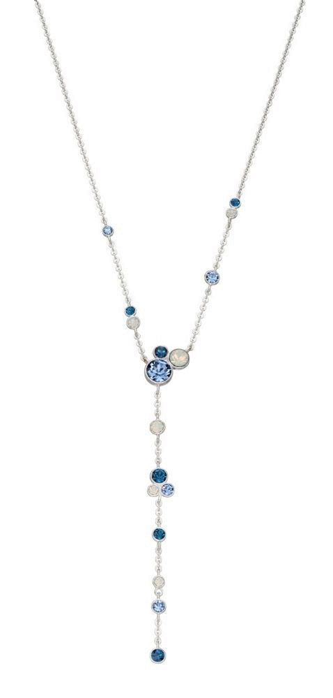 Blue Sparkle Drop Necklace