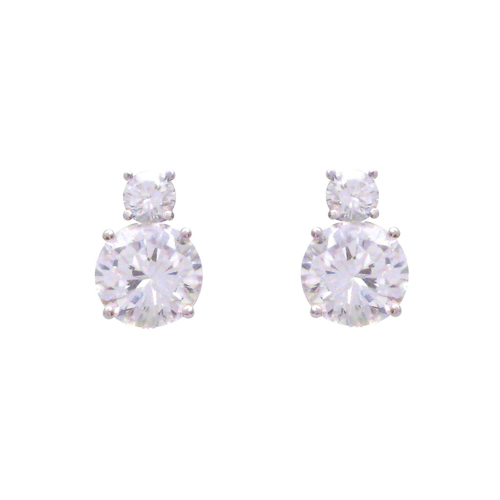Double Diamond Brilliant Cut Studs