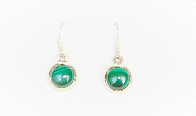 Jade and Silver Drop Earrings