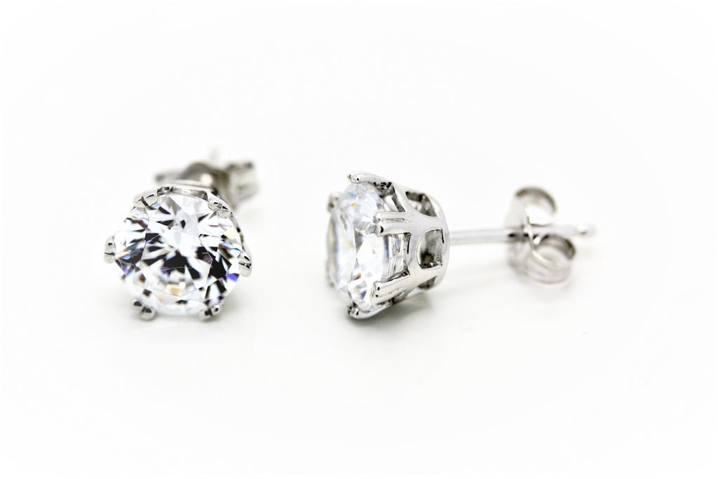 """Diamond"" 8mm Stud Earrings"