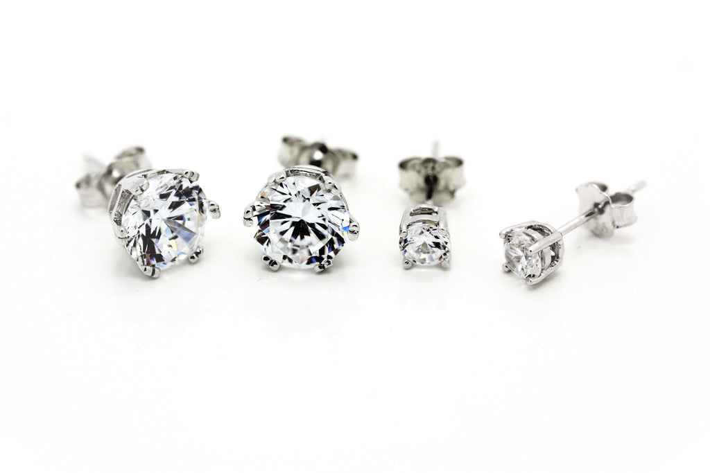 "4mm ""Diamond"" Stud Earrings"