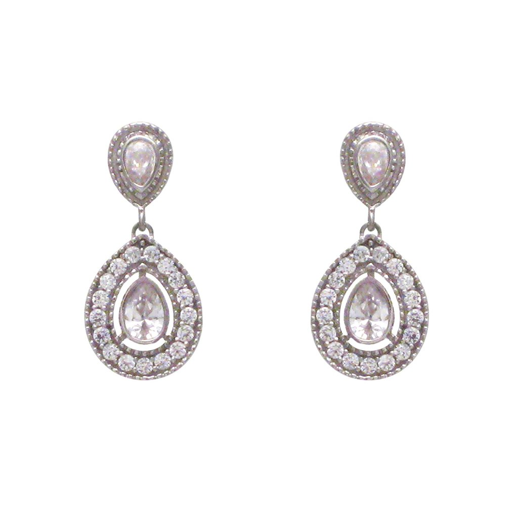 Double Pear Drop Earrings