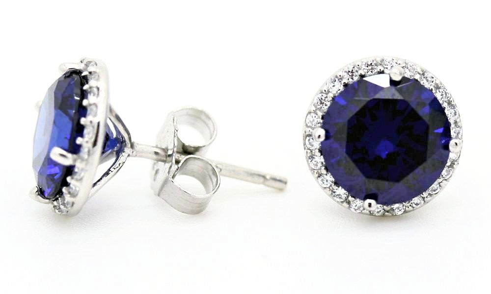 """Tanzanite"" Blue Superstud Earrings"