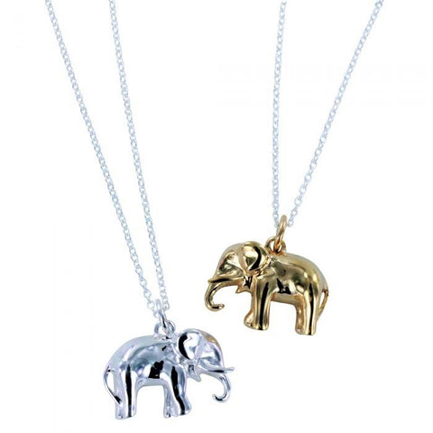 Gold or Silver Elephant Necklace