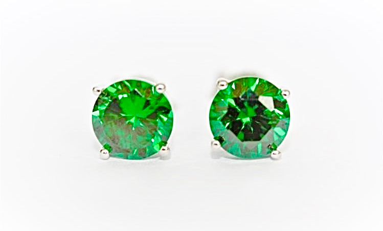 """Emerald"" Large or Small Stud Earrings"