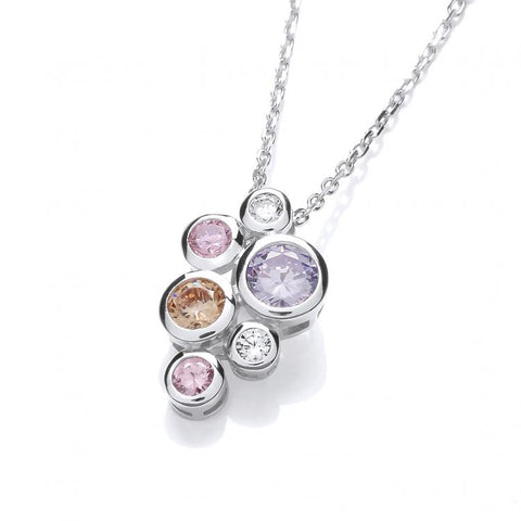 Galaxy Multi Coloured Cz Necklace