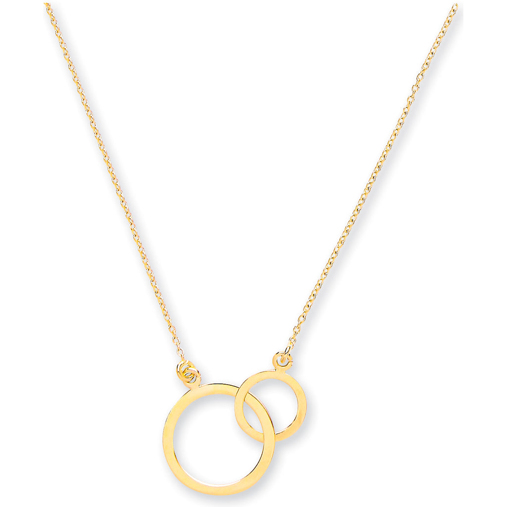 9ct Gold Interlinked Circles Necklace