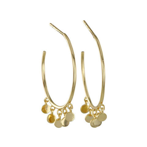 Shaker Hoops in Gold Vermeil and Sterling Silver Earrings
