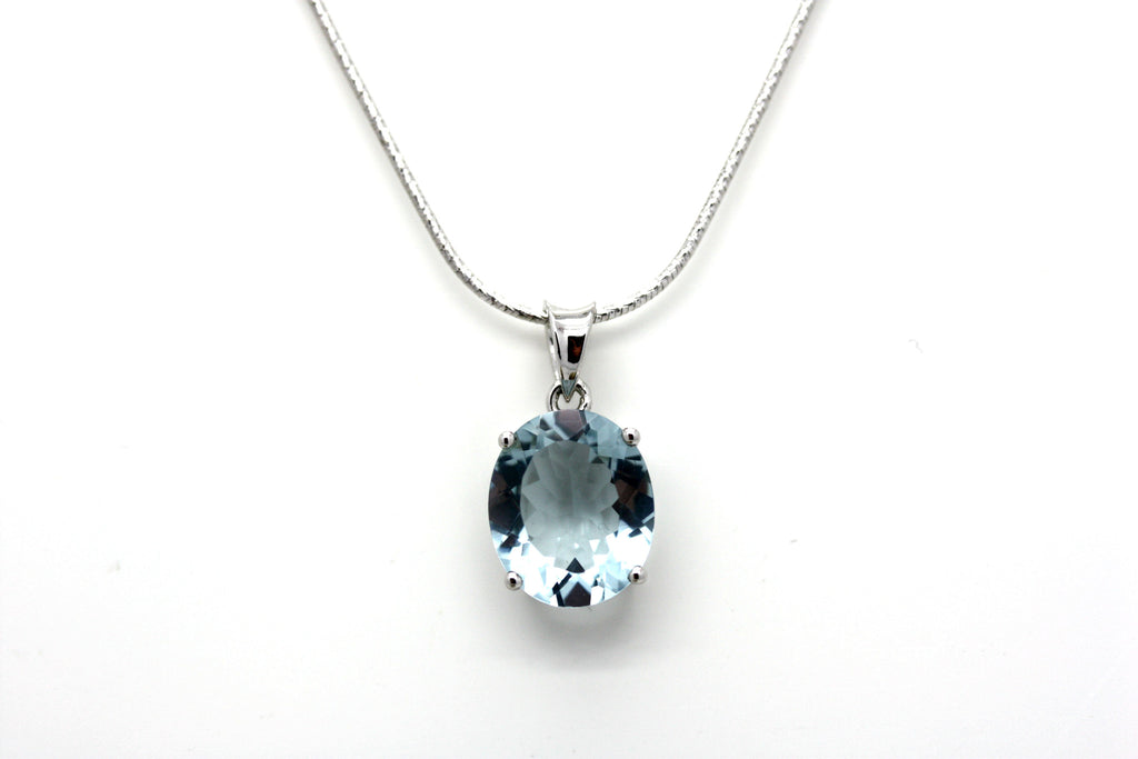Real Blue Topaz Pendant