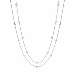 "Silver ""Diamond"" by the Yard Necklace"