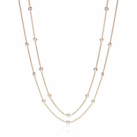 "Gold ""Diamond"" by the Yard Necklace"