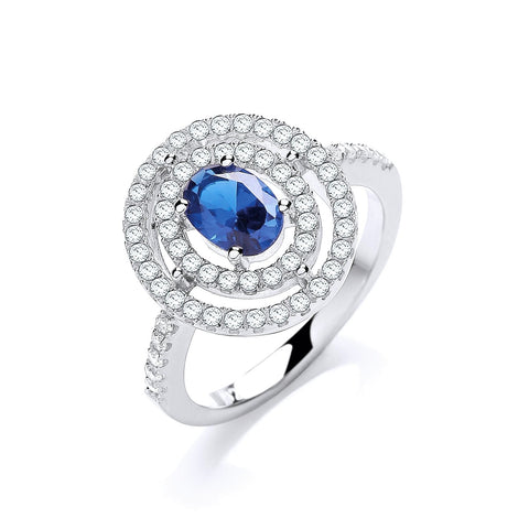 "Victorian-Style ""Tanzanite"" Halo Ring"