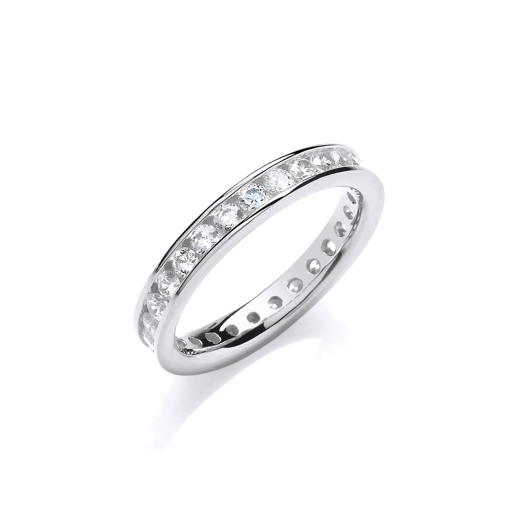 Silver 3mm Eternity Ring
