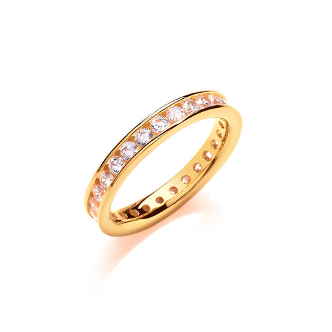 Gold 3mm Eternity Ring