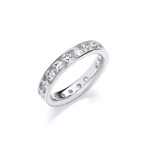 Silver 4mm Eternity Ring