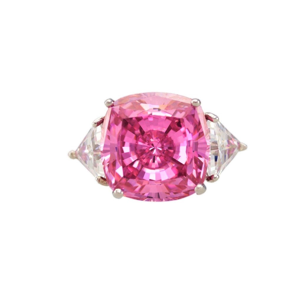Large Pink Sapphire Ring