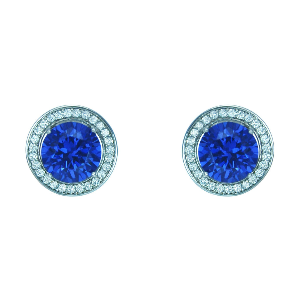 Large Tanzanite Cluster Earrings